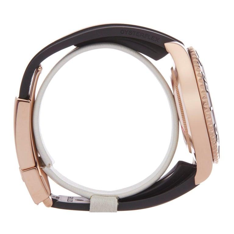 Rolex Yacht-Master 40 116655 Men's Rose Gold Oysterflex Watch For Sale 1