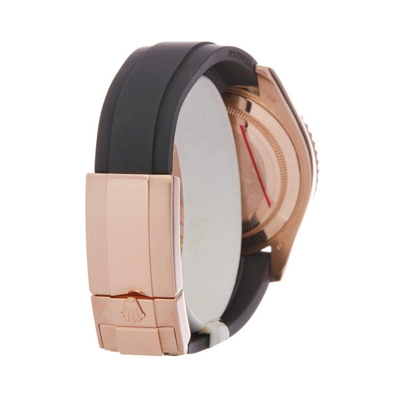 Rolex Yacht-Master 40 116655 Men's Rose Gold Oysterflex Watch For Sale 2