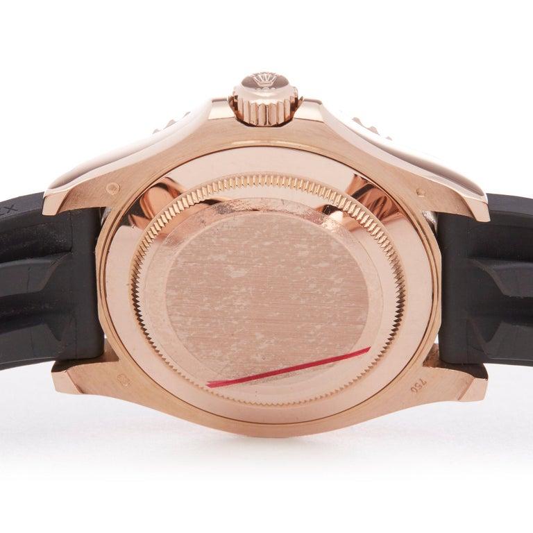 Rolex Yacht-Master 40 116655 Men's Rose Gold Oysterflex Watch For Sale 3