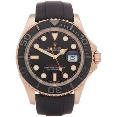 Rolex Yacht-Master 40 116655 Men's Rose Gold Oysterflex Watch
