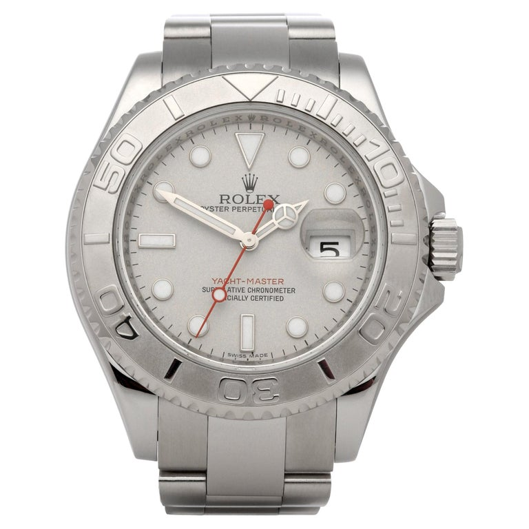 Rolex Yacht-Master 40 16622 Men's Stainless Steel Watch For Sale
