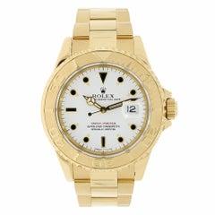 Rolex Yacht-Master 40 18 Karat Yellow Gold White Dial Watch 16628