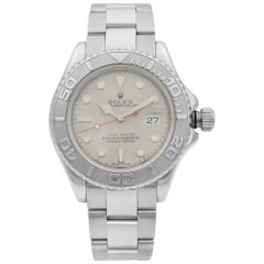Rolex Yacht-Master 40 Steel Platinum Bezel Grey Dial Automatic Men's Watch 16622