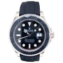 Rolex Yacht-Master 42 18 Karat Gold Black Dial Ceramic Bezel Men's Watch 226659