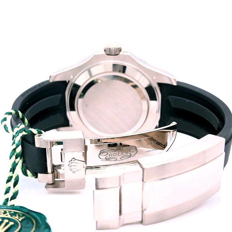 Rolex Yacht-Master Automatic Black Dial 18ct Oysterflex Rubber Strap 226659 For Sale 3