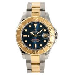 Rolex Yacht-Master 68623 Blue Dial Unisex Automatic Watch 18 Karat Two-Tone SS