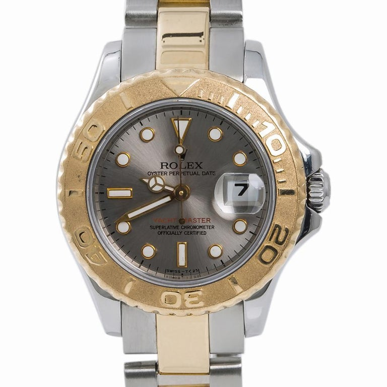 Women's Rolex Yacht-Master 69623, Silver Dial, Certified and Warranty For Sale
