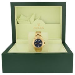 Rolex Yacht-Master 69628, Blue Dial, Certified and Warranty
