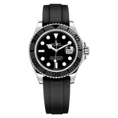 Rolex Yacht-Master Automatic Black Dial 18ct Oysterflex Rubber Strap 226659