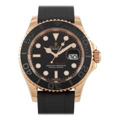 Rolex Yacht-Master Everose Gold Rubber Strap Watch 116655
