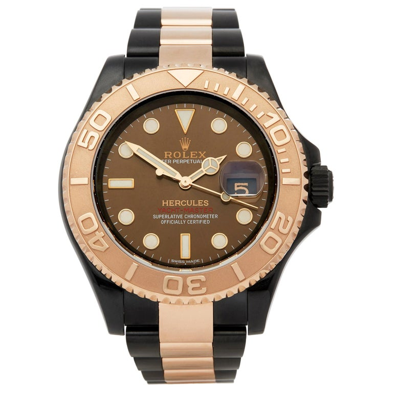 Rolex Yacht-Master Hercules Dlc Coated Stainless Steel and 18 Karat Gold 116621 For Sale