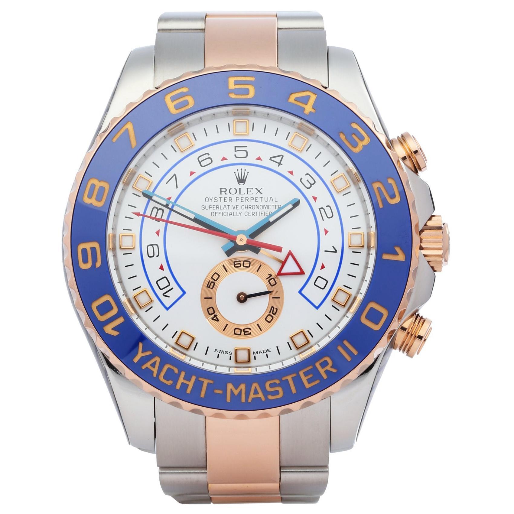 Rolex Yacht-Master II 0 116681 Men's Rose Gold & Stainless Steel 0 Watch