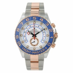 Rolex Yacht-Master II 116681 Papers Men's Automatic Watch 18 Karat Two-Tone Rose