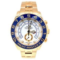 Rolex Yacht Master II 116688 Oyster 18 Karat Yellow Gold White Index Dial Watch