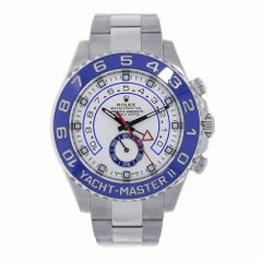 Rolex Yacht-Master II Stainless Steel Watch Blue Ceramic 116680
