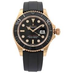 Rolex Yacht-Master Matt Black Dial 18k Everose Gold Automatic Men's Watch 116655