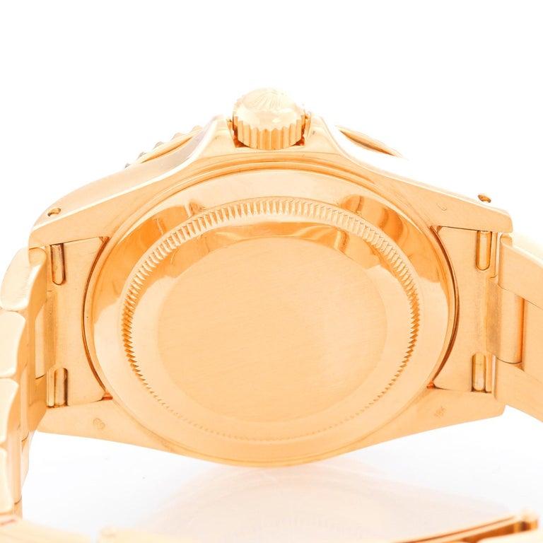 Rolex Yacht-Master Men's 18 Karat Yellow Gold Watch Mother of Pearl 16628 1