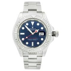 Rolex Yacht-Master Platinum Steel Blue Dial Automatic Men's Watch 116622
