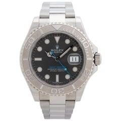 Rolex Yacht-Master, Rhodium Dial, Platinum Bezel, Box & Papers