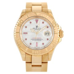 Rolex Yacht-Master Ruby Mother of Pearl Dial Watch 16628