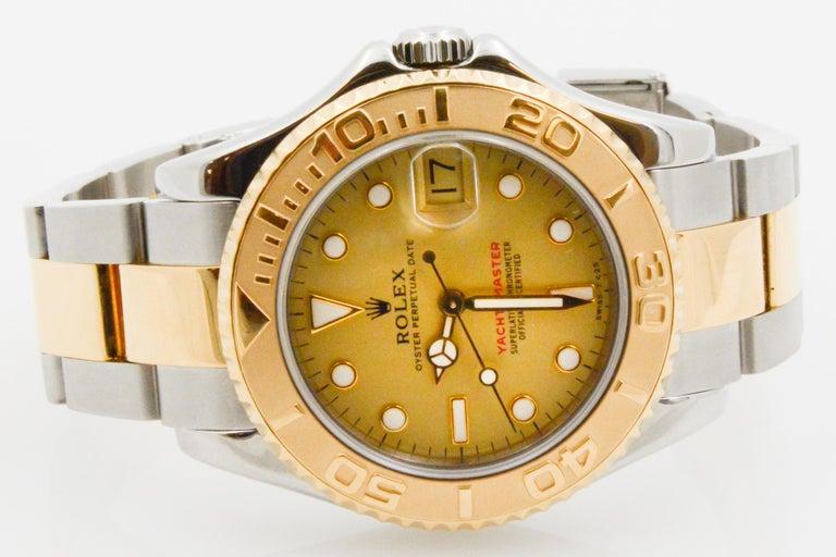 Rolex Yacht-Master Steel 18 Karat Yellow Gold and Champagne Ladies Watch 68623 2