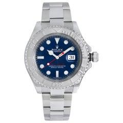 Rolex Yacht-Master Steel Platinum Blue Dial Oyster Men's Watch 116622
