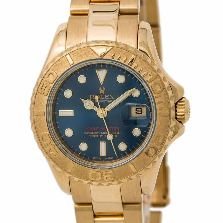 Women's Rolex Yacht-Master 169628, Blue Dial Certified Authentic For Sale