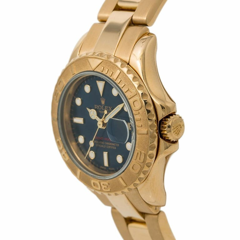 Rolex Yacht-Master 169628, Blue Dial Certified Authentic For Sale 1