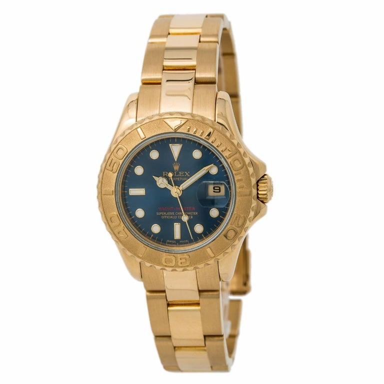 Rolex Yacht-Master 169628, Blue Dial Certified Authentic For Sale