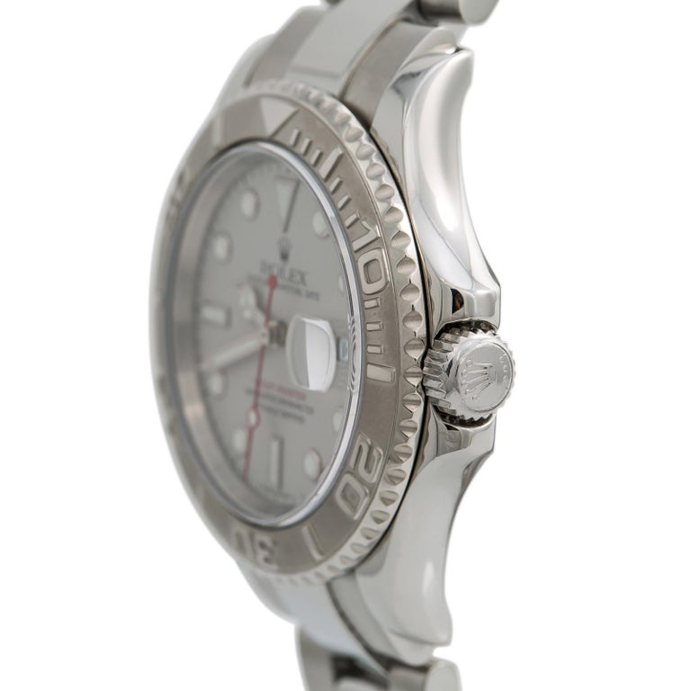 Rolex Yacht-Master 7680, Silver Dial Certified Authentic In Excellent Condition For Sale In Miami, FL