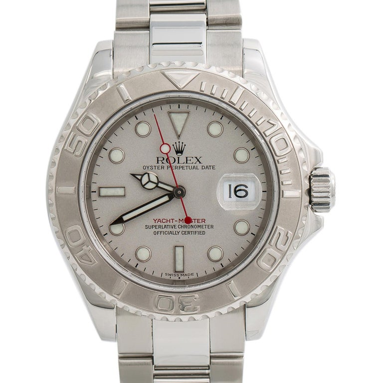 Women's Rolex Yacht-Master 7680, Silver Dial Certified Authentic For Sale