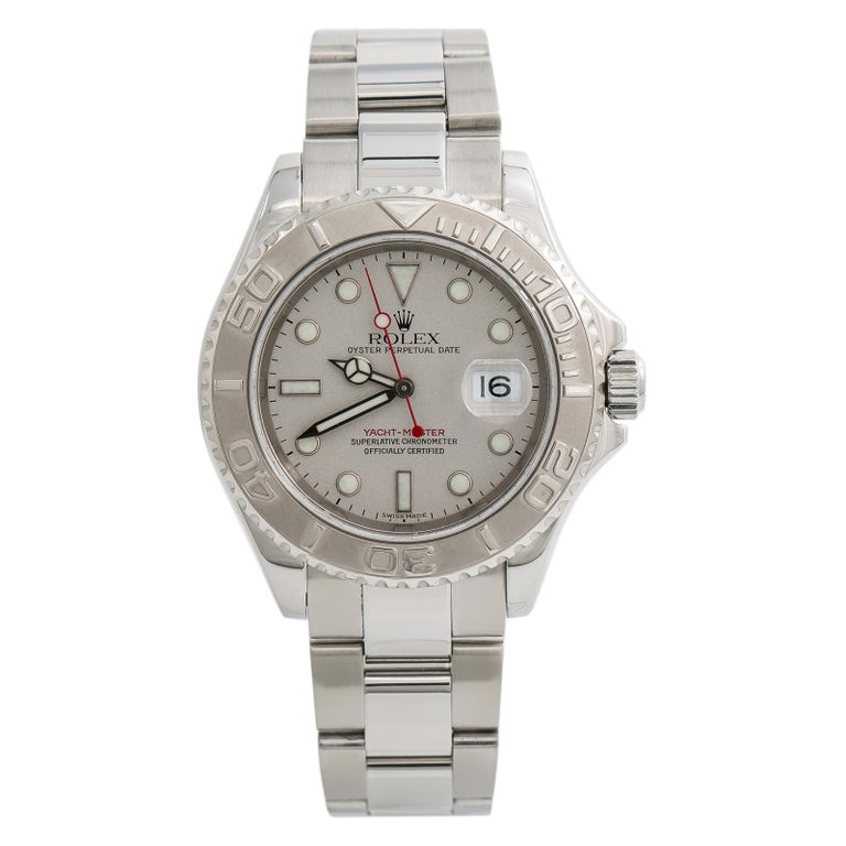 Rolex Yacht-Master 7680, Silver Dial Certified Authentic For Sale