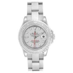 Rolex Yachtmaster 29 Steel Platinum Ladies Watch 169622 Box Papers