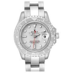 Rolex Yachtmaster 29 Steel Platinum Ladies Watch 169622