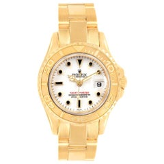 Rolex Yachtmaster 29 Yellow Gold White Dial Ladies Watch 169628