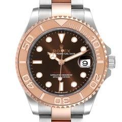 Rolex Yachtmaster 37 Midsize Steel Rose Gold Mens Watch 268621 Unworn