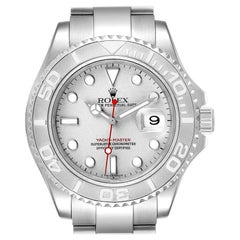 Rolex Yachtmaster 40 Steel Platinum Dial Bezel Men's Watch 16622