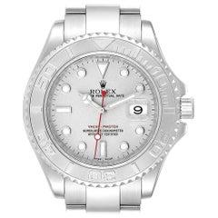 Rolex Yachtmaster 40 Steel Platinum Dial Bezel Men's Watch 16622