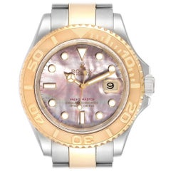 Rolex Yachtmaster 40 Steel Yellow Gold MOP Men's Watch 16623 Box Papers