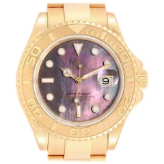 Rolex Yachtmaster 40 Yellow Gold Mother of Pearl Dial Men's Watch 16628