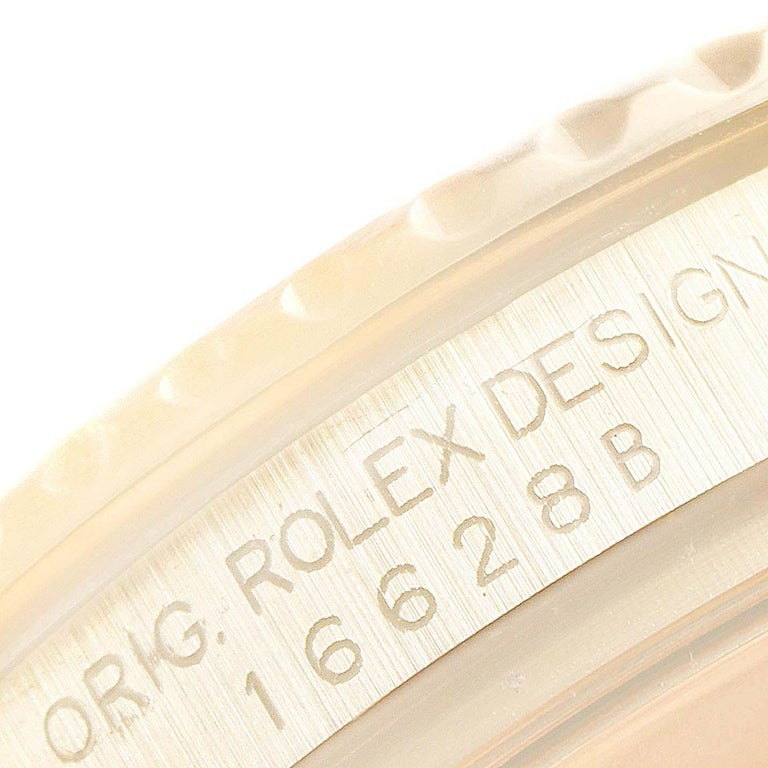 Rolex Yachtmaster 40 Yellow Gold White Dial Men's Watch 16628 Box Papers For Sale 5