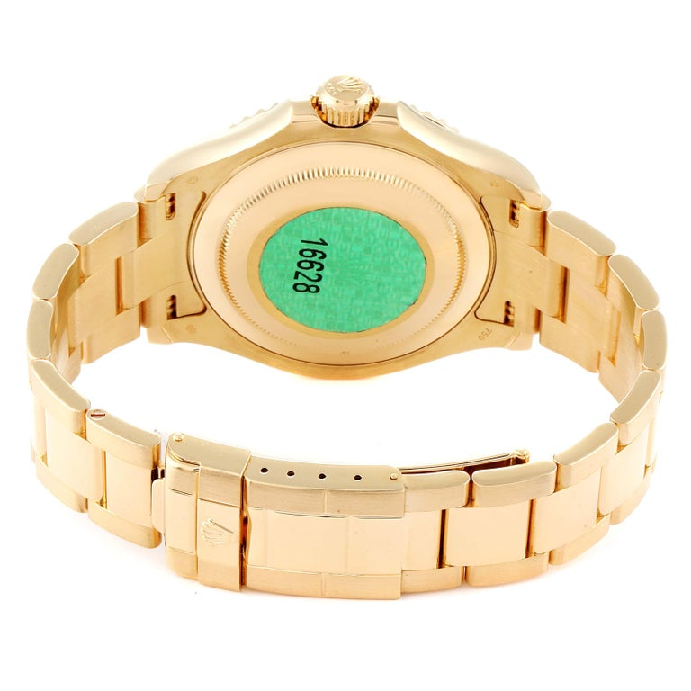 Rolex Yachtmaster 40 Yellow Gold White Dial Men's Watch 16628 Box Papers For Sale 6
