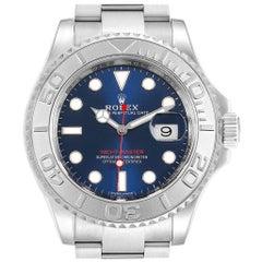 Rolex Yachtmaster Steel Platinum Blue Dial Men's Watch 116622