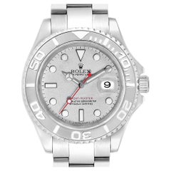 Rolex Yachtmaster Steel Platinum Men's Watch 16622 Box Papers