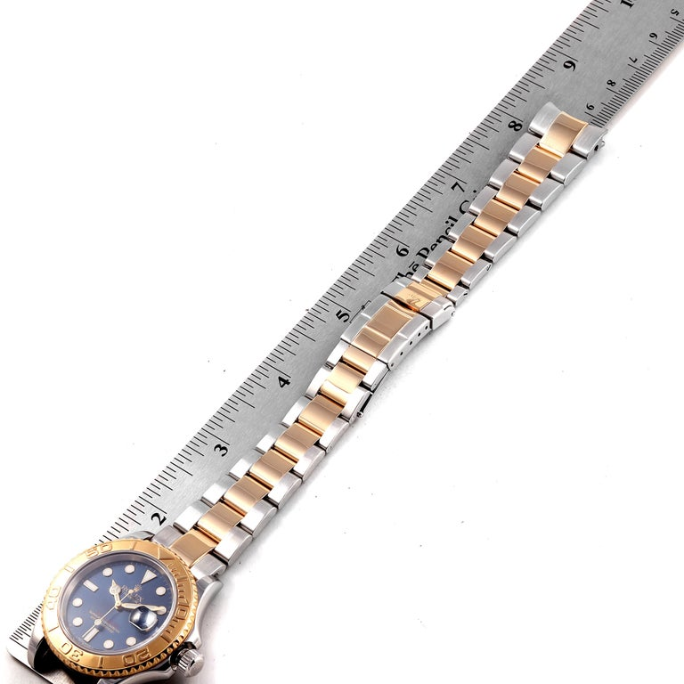 Rolex Yachtmaster Steel Yellow Gold Blue Dial Men's Watch 16623 For Sale 7