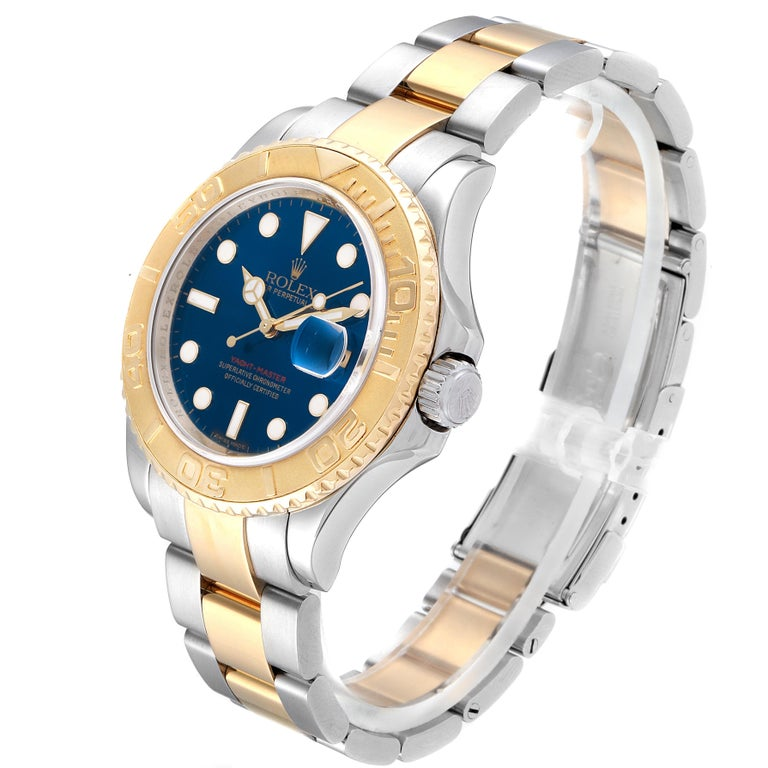 Rolex Yachtmaster Steel Yellow Gold Blue Dial Men's Watch 16623 For Sale 1