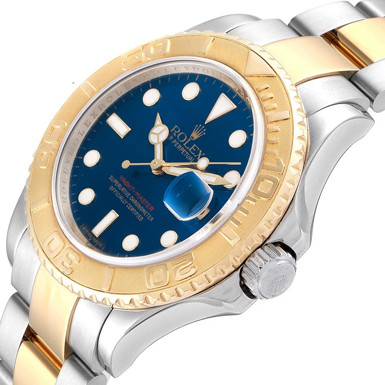 Rolex Yachtmaster Steel Yellow Gold Blue Dial Men's Watch 16623 For Sale 2