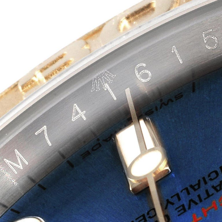 Rolex Yachtmaster Steel Yellow Gold Blue Dial Men's Watch 16623 For Sale 4