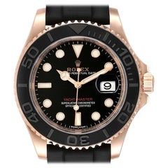 Rolex Yachtmaster Everose Gold Rubber Strap Watch 116655