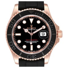 Rolex Yachtmaster Everose Gold Rubber Strap Watch 126655 Unworn